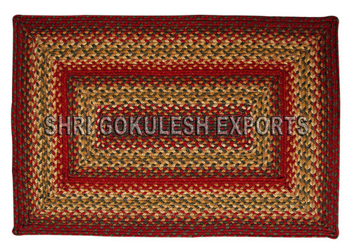 Indian Natural Handmade Pure Cotton Braided Carpets