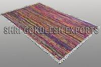 Indian Pure Cotton Fabric Handmade Braided Floor Carpets