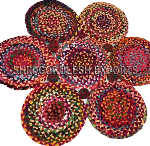 100% Cotton Indian Handmade Braided Floor Carpets