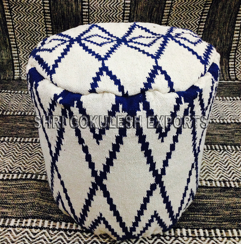 Handmade Cotton Seating Floor Stool Poufs and Ottomans
