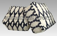 High Quality Home Living Room Cotton  Floor  Stool Poufs and Ottomans