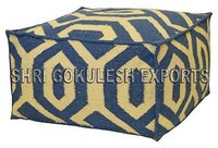 Indian Designer Stylish Look Cotton Seating Poufs and Ottomans