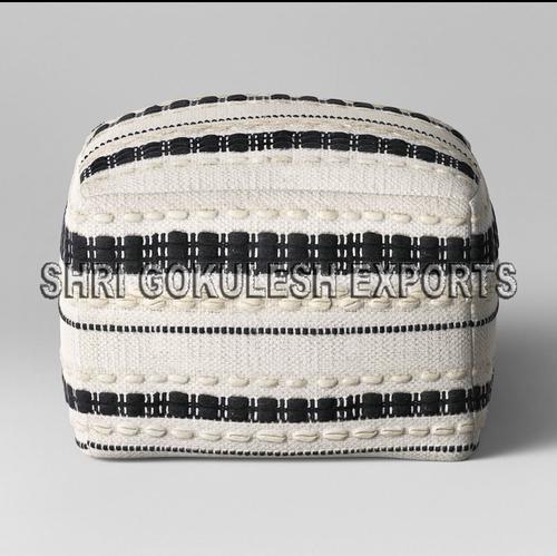 100% Cotton Handmade Beautiful Designer Poufs Seating Ottomans