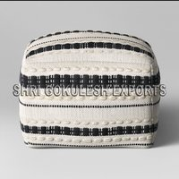 100% Cotton Handmade Beautiful Designer Poufs Seating Ottomans