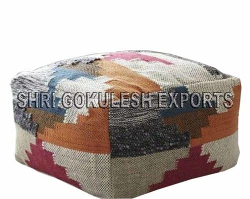 Cotton Poufs And Ottomans Indian Handmade Woven Technics