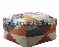 Cotton Poufs And Ottomans Indian Handmade Woven Technics