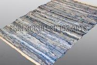 100% Cotton Handmade Denim Runner Carpets