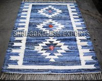 New Design Rectangular Shape Indian Handmade Cotton Denim Rugs
