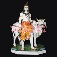Marble Shiva Cow Statue