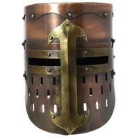 Medieval Knight Armor Helmet ~ Copper Antique MEDIEVAL AGE ARMOR HELMET ~ Collectible Gift