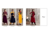 Nitya Vol 39 Nx Rayon With Embroidery Kurtis 3 Pics