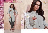 Glorist Viscous Rayon Print & Embroidery Work With Rayon Print Dhoti
