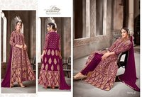 Nazneen 1111 Colour Designer Gown Net Fabric