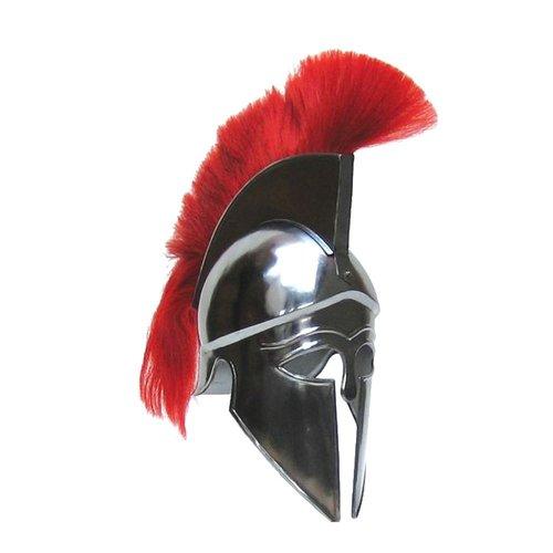 Greek Corinthian Armour Helmet with Red Plume ~ Collectible Medieval Corinthian Armour Helmet