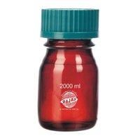 Bottle Reagent  Amber 2000 Ml  With Screw Cap