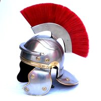 Roman Helmet ~ Roman Centurion Armor Helmet with Red Plume ~