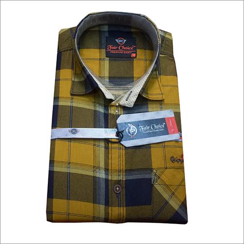 Yellow And Blue Check Shirt