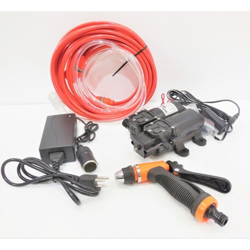 12V 105PSI Portable High Pressure Car Electric Washer Car Washing Machine Dual Core Double Head