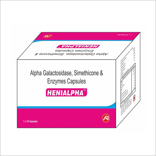 Alpha Galactosidase, Simethicone And Enzymes Capsules