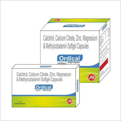 Calcitriol Calcium Citrate Zinc Magnesium And Methylcobalamin Softgel Capsules