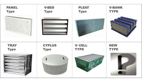 Filter Panel V-Bed Pleat V-Bank Tray Type
