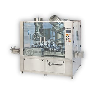 Rotary Dry Syrup 16 x 8 Head Monoblock Powder Filling And Capping Machine