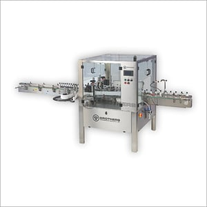 Twin  Front and Back Two Side Flat Bottle Sticker Labelling Machine