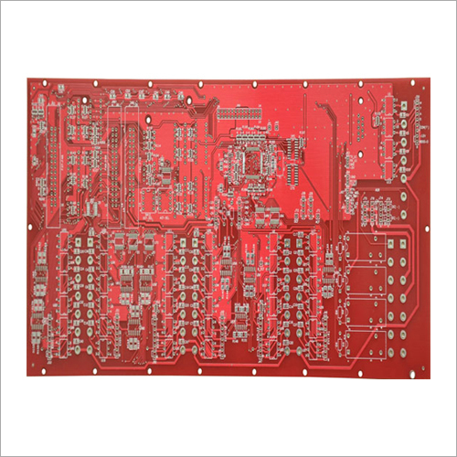 Double Side PCB With Red Mask