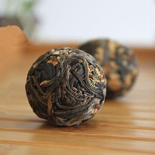China Sweet Dried Osmanthum Flavor Handmade Blooming Osmanthus Pure Tea Ball
