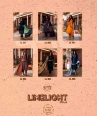 Limelight Vol 4 Designer Long Silk Fabrics Kurtis