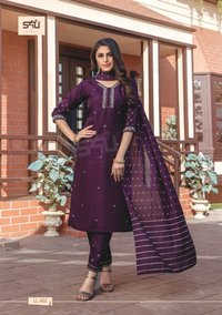 Limelight Vol 4 Designer Long Silk Fabrics Kurtis