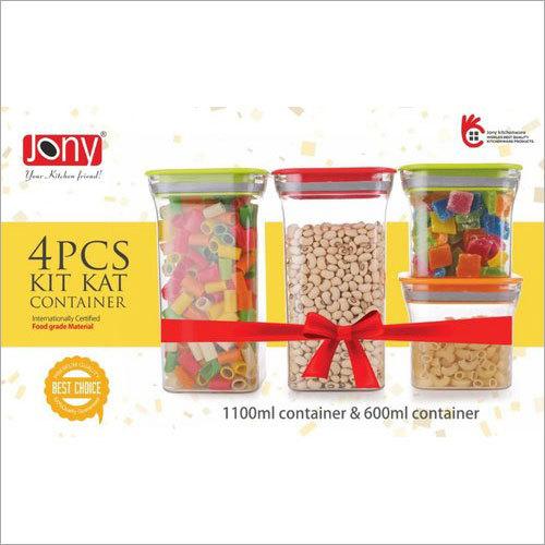 Jony 4 Piece Kit Kat Kitchen Container Set