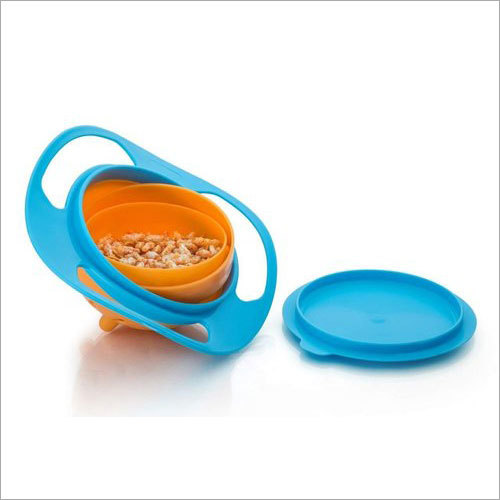 Portable Non Spill Feeding Toddler Gyro Bowl