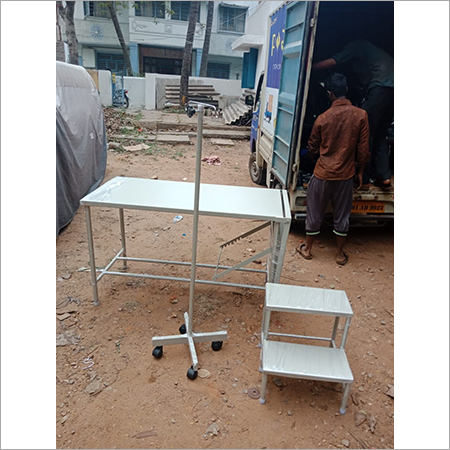 Examination Table with IV Stand N footer