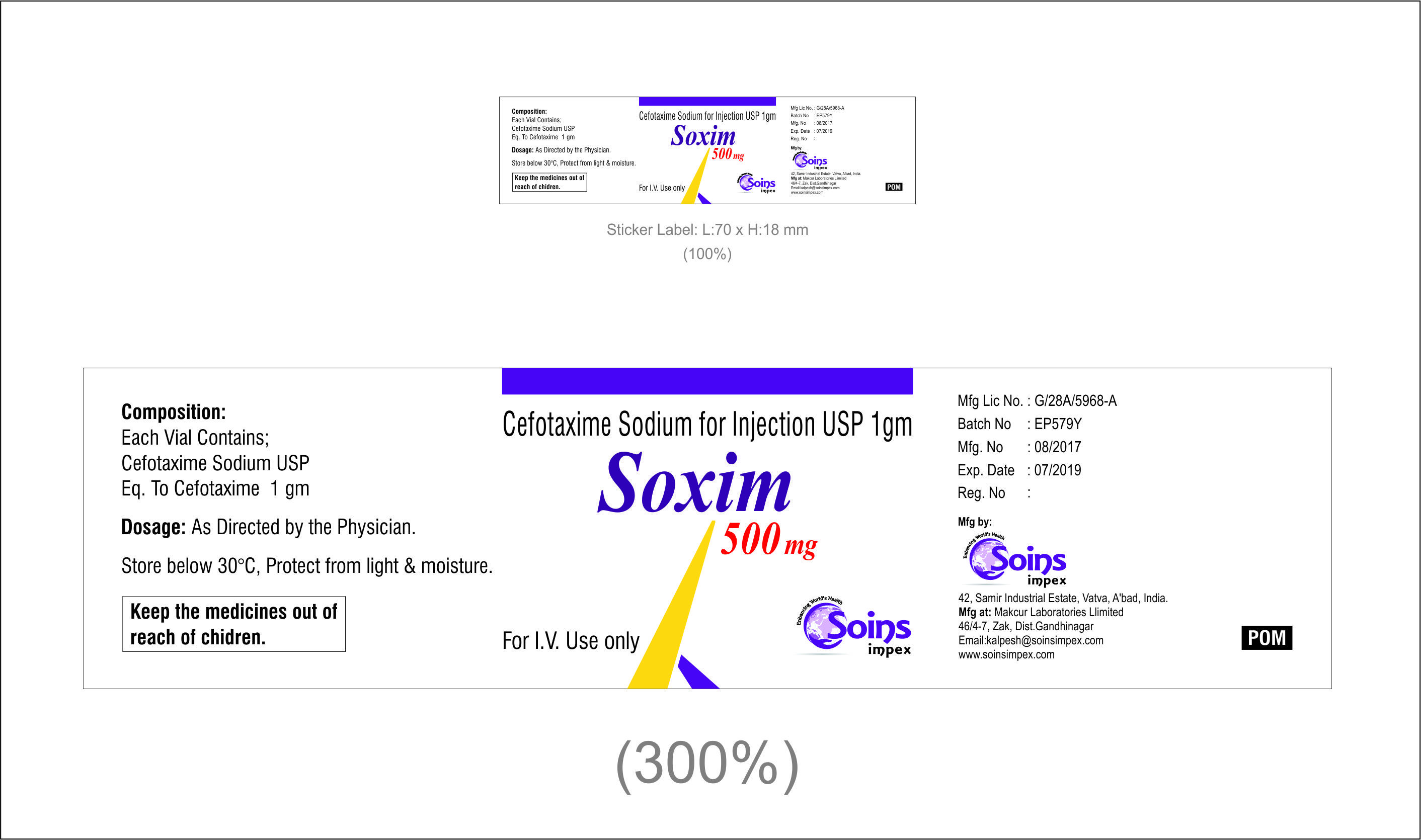Cefotaxime Sodium For Injection 500mg