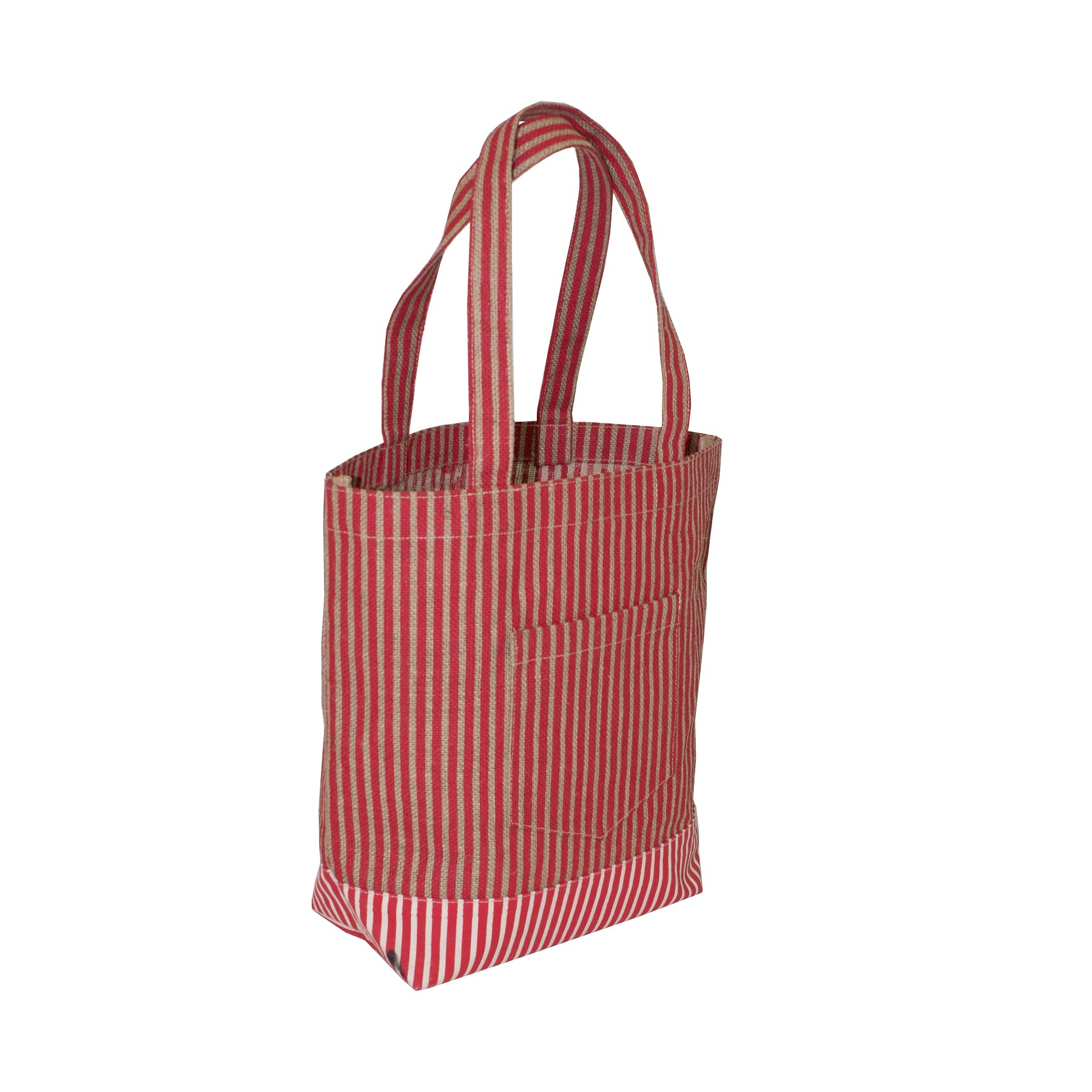 PP Laminated Jute Tote Bag With 12 Oz Canvas Bottom