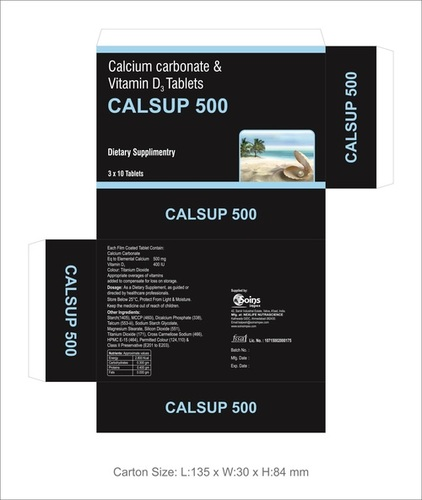 Calcium Carbonate & Vitamin D3 Tablets