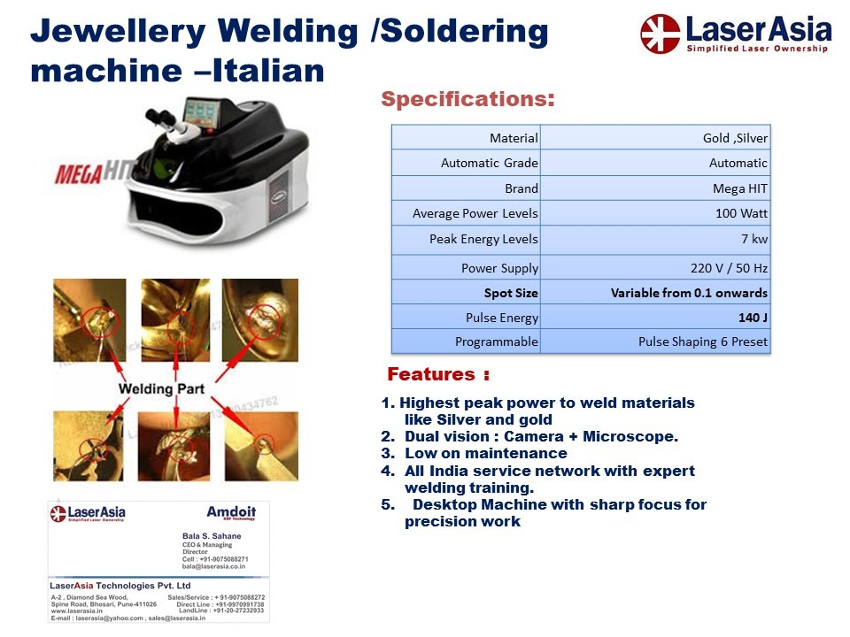 MegaHit Italian Jewellery Laser Welding Machine