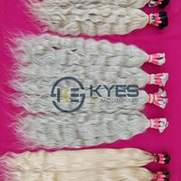 Blonde Hair South Indian Temples Raw Human Hair