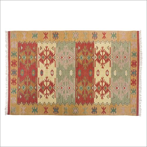 Hand Woven Woolen Flat Weave Kilim Design: Modern