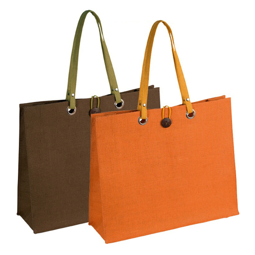 Jute Shopping Tote Bag With Jute Handle