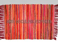 Designer Modern Indian Handmade Cotton Chindi Rugs