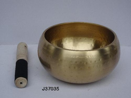 Brass Singing Bowl Hammered