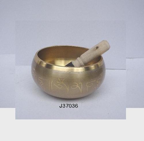 Brass Singing Bowl Etched Patterns