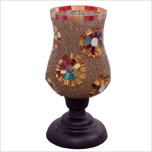 Musaic Finish Glass Candle Stand