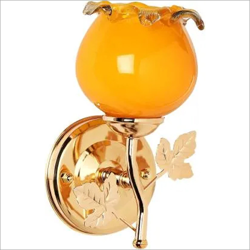 Metal Fitting Orange Color Glass Wall Lamp