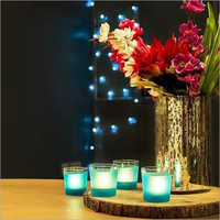 Glass Frosted Candle Tea Light Holder