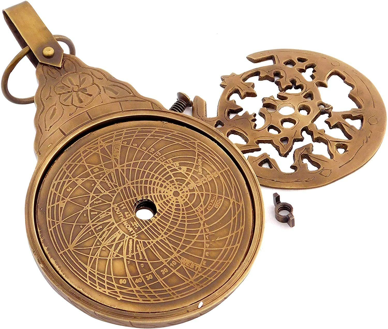 Nautical English Arabic Calendar Astrolabe Arabic Globe Navigation Astrological Calendar