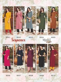 Sequence Rayon 14 Kg With Embroidery Work Kurtis