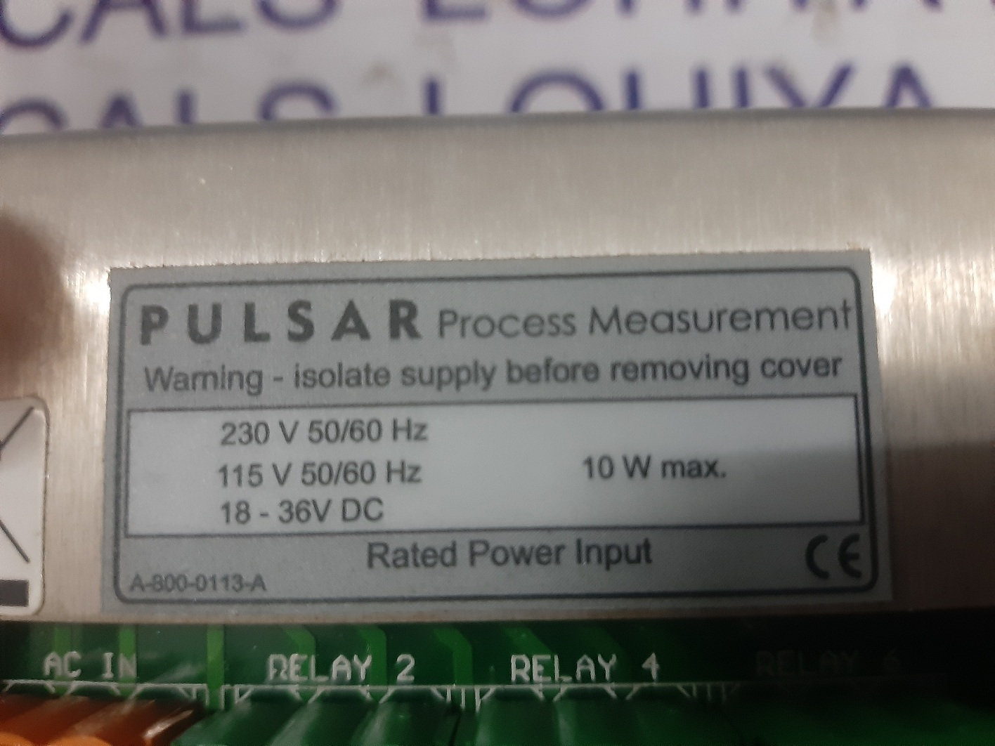 PULSAR PROCESS MEASUREMENT HMI A-800-0113-A
